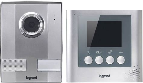 legrand  video door intercom corded complete kit detached silver conradcom
