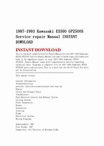 1987 1993 Kawasaki Ex500 Gpz500s Service Repair Manual
