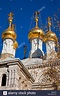 Golden domes of the Russian Orthodox Church in Geneva ...