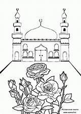 Coloring Mosque Islamic Ramadan Gambar Raskraski Masjid Mechet Printable Sketsa Mewarnai Sheets Naruto Coloriage Islam Mosques Eid Rose1 Terbaru Bunch sketch template