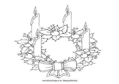 advent wreath coloring page advent coloring christmas