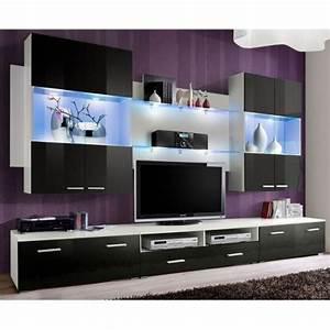 Meuble Tv 300 Cm Meuble Tv Mural Design Space 300cm Noir
