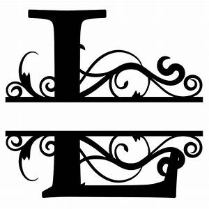 monogram letter die cut vinyl decal pv1320 monograms With silhouette letter cutter