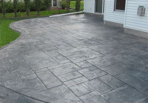 concrete back yard concrete patios custom and sted concrete buchheit construction