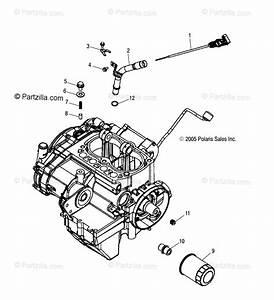 Polaris Atv 2007 Oem Parts Diagram For Engine  Dipstick