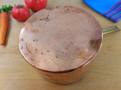 antique pat  dovetailed hammered copper tin sauce pan olde kitchen home