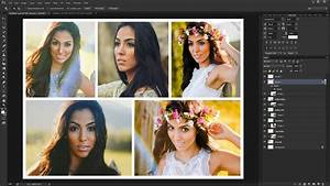 Montage Photo Photoshop : how to create a photo collage template in photoshop youtube ~ Medecine-chirurgie-esthetiques.com Avis de Voitures