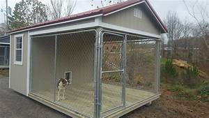 Kennels small log cabins horse barns chicken coops for Red barn dog kennel