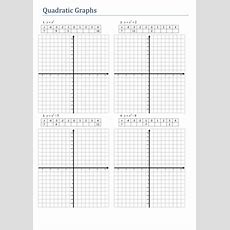 Quadratic Graph Worksheet By Tristanjones  Teaching Resources Tes