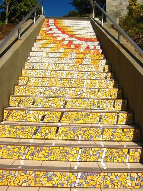 16th avenue tiled steps in san francisco san francisco s secret mosaic staircase my modern met