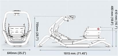 N1 Frame Rseat Dimensions Racing Cockpit Simulator
