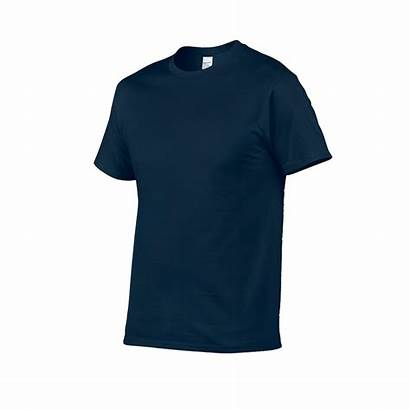 Navy Shirt Cotton Premium Gildan Neck Round