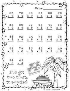 Double Digit Multiplication With Regrouping, Two Digit Multiplication, Christmas  Teachers Pay