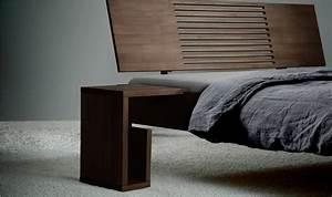 Lit Chevet Suspendu : chevet de lit design en bois massif shimoe haut table de nuit pour chambre coucher adulte ~ Teatrodelosmanantiales.com Idées de Décoration