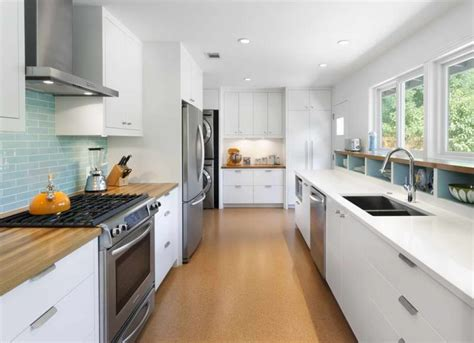 Kitchen , Modern Galley Kitchen Create A Chic Cooking