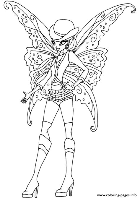 gothic stella winx club coloring pages printable