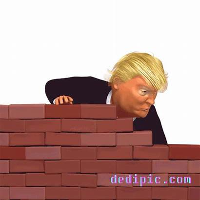 Trump Wall Donald Funny 3d Tantrum Gifs