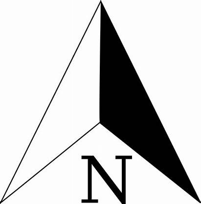 Arrow North Symbol Compass Background Map Clipart