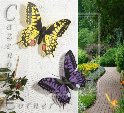 2 Set Butterfly Wall Decorationgarden Ornaments Wall