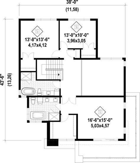 modern two bedroom house plans modern style house plan 3 beds 2 5 baths 2370 sq ft plan 19289 | w1024