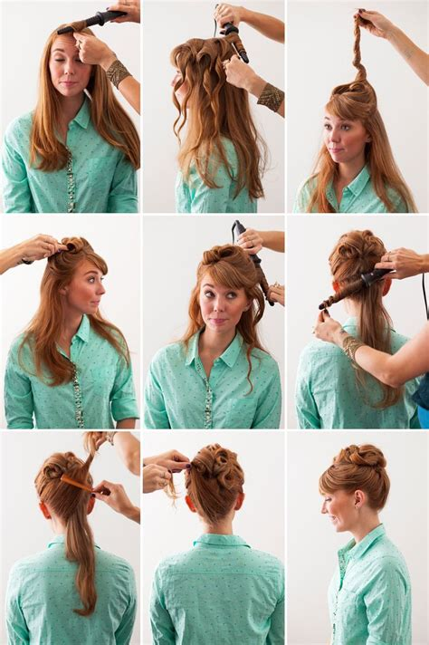 50s Hairstyles Tutorial by 3 Retro Hairstyles With A Modern Twist Updo Twists And