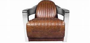 Fauteuil Cuir Design : fauteuil design churchill lounge cuir premium acier ~ Melissatoandfro.com Idées de Décoration