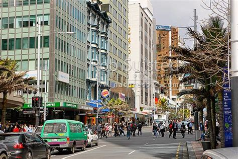 queens street  downtown central auckland business