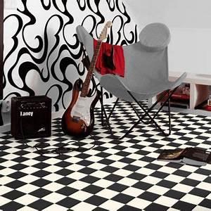 Sol Vinyle Castorama : ordinaire carrelage damier noir et blanc 1 plancher de ~ Voncanada.com Idées de Décoration