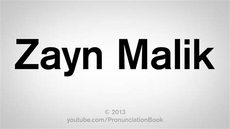 malik zayn say pronounce