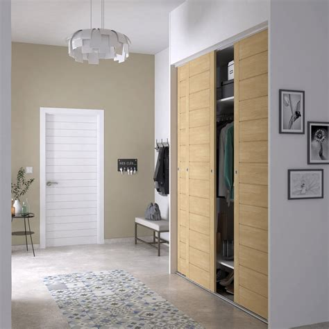 porte placard cuisine leroy merlin porte de placard coulissante spaceo l 66 x h 250 cm