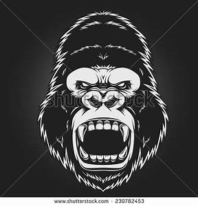 Angry Gorilla Drawing