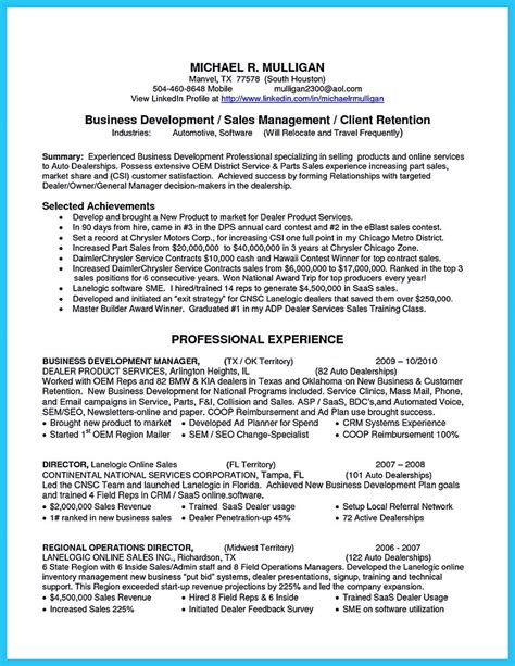 Business Development Sales Manager Resume by Cool Make The Most Magnificent Business Manager Resume For