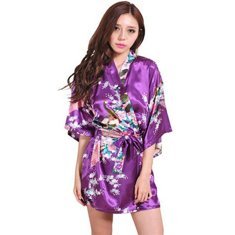 robe de chambre kimono achetez en gros longue satin peignoir en ligne à des