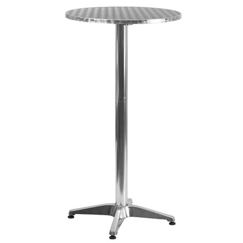 25 5 quot highboy table with stainless steel top design