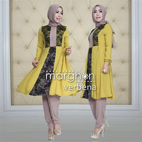 syaluna dress verbena yellow baju muslim gamis modern