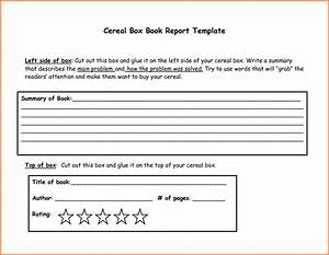 Cereal Box Ingredients Template
