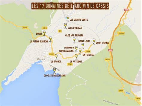 Carte Sud Cassis by Carte Domaine Vin Cassis Aoc Sud Cassis La Ciotat
