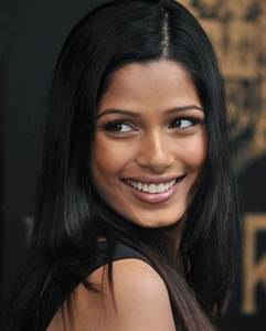 Freida Pinto Long Straight Hairstyle - Casual, Everyday ...