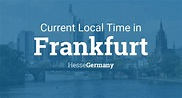 Current Local Time in Frankfurt, Hesse, Germany