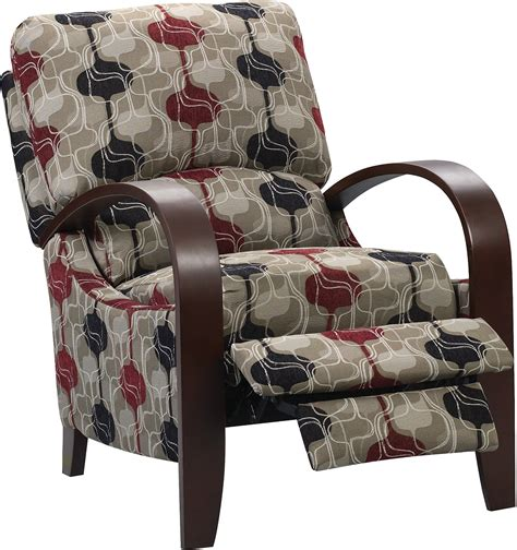 aaron reclining fabric accent chair lava united