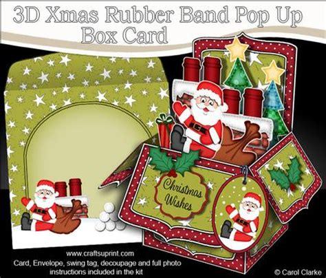 pop up card box template christmas 3d rooftop santa rubber band pop up box card cup565271 359 craftsuprint