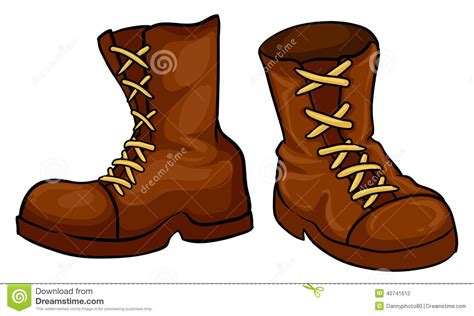 A Pair Of Brown Boots Stock Vector Image Of Image, Brown