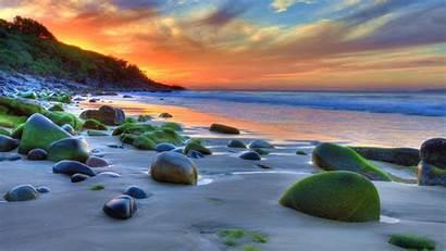4k Beach Ocean Desktop Nature Sunset Computer