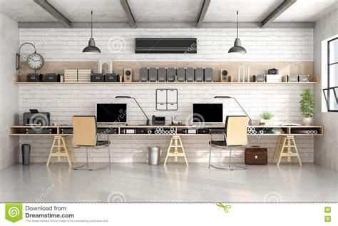 bureau d architecture ou d ing 233 nierie dans le style industriel illustration stock image 72590353