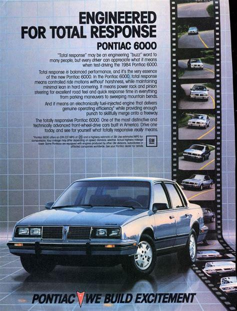 free car manuals to download 1984 pontiac 6000 electronic valve timing 1984 pontiac ad 03