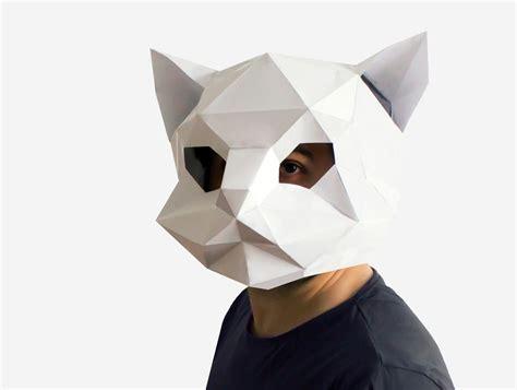 paper mask cat mask kitten mask diy printable animal instant pdf