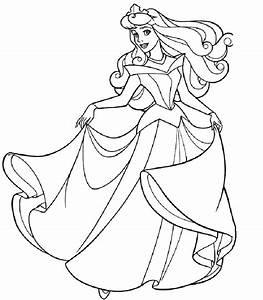 Kostenlose Ausmalbilder Prinzessin