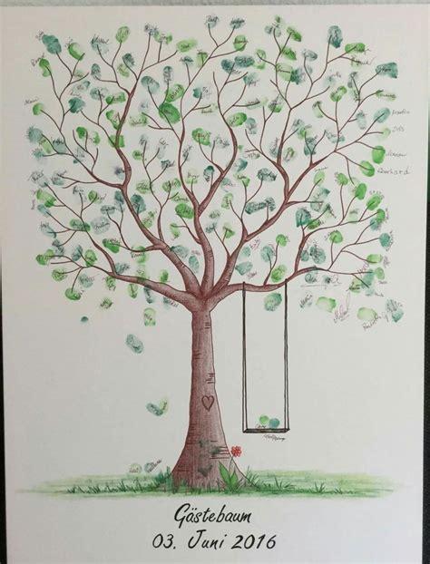 wedding tree fingerabdruck baum hochzeit geschenk taufe