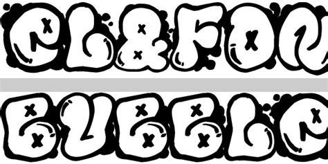 Graffiti Bubble Font :  Bubble Letters