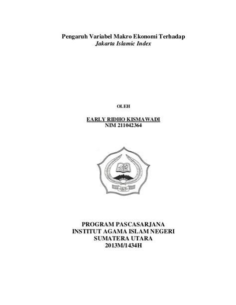 Pengaruh Variabel Makro Ekonomi Terhadap Jakarta Islamic Index